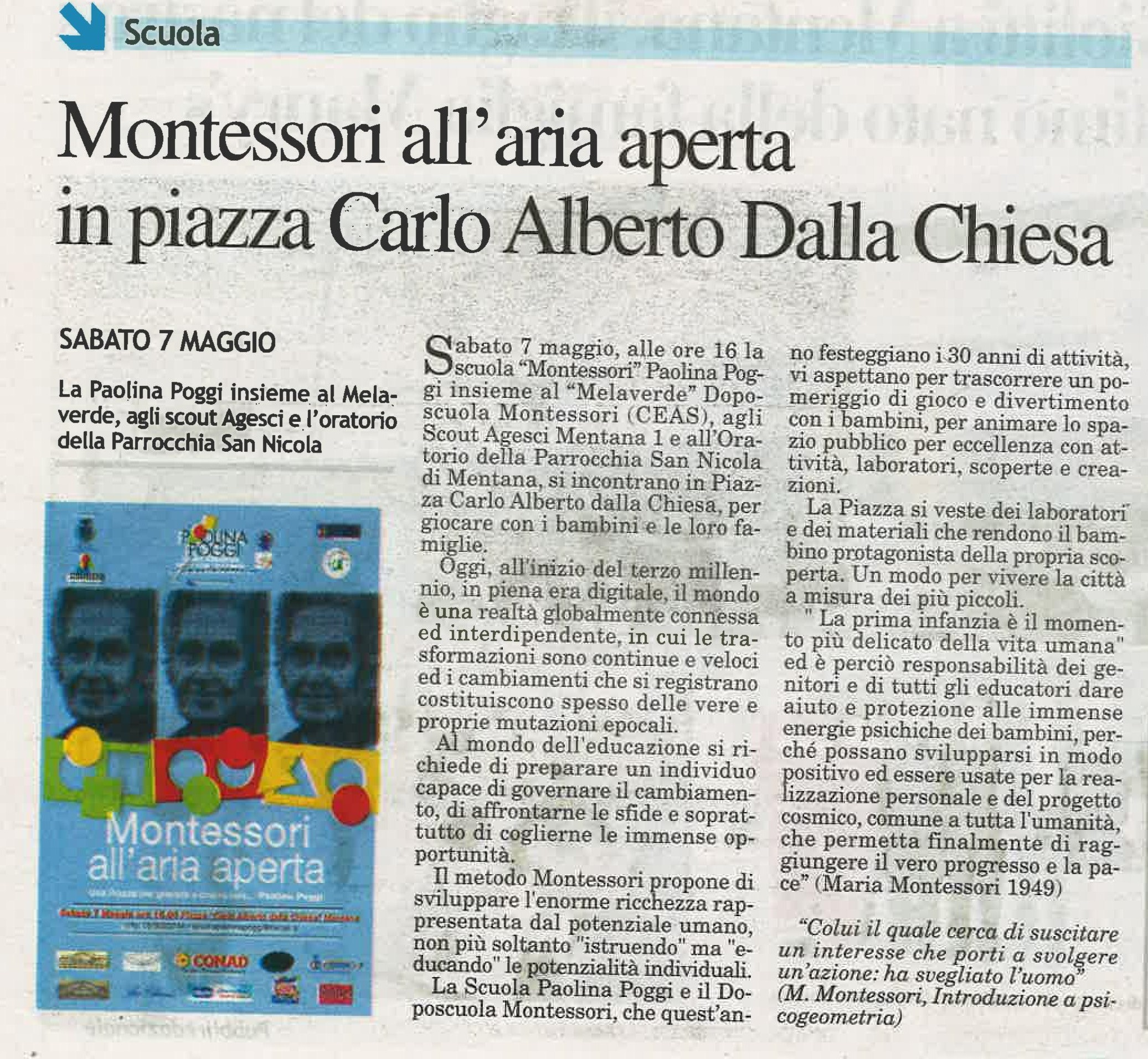 Montessori all'aria aperta tiburno