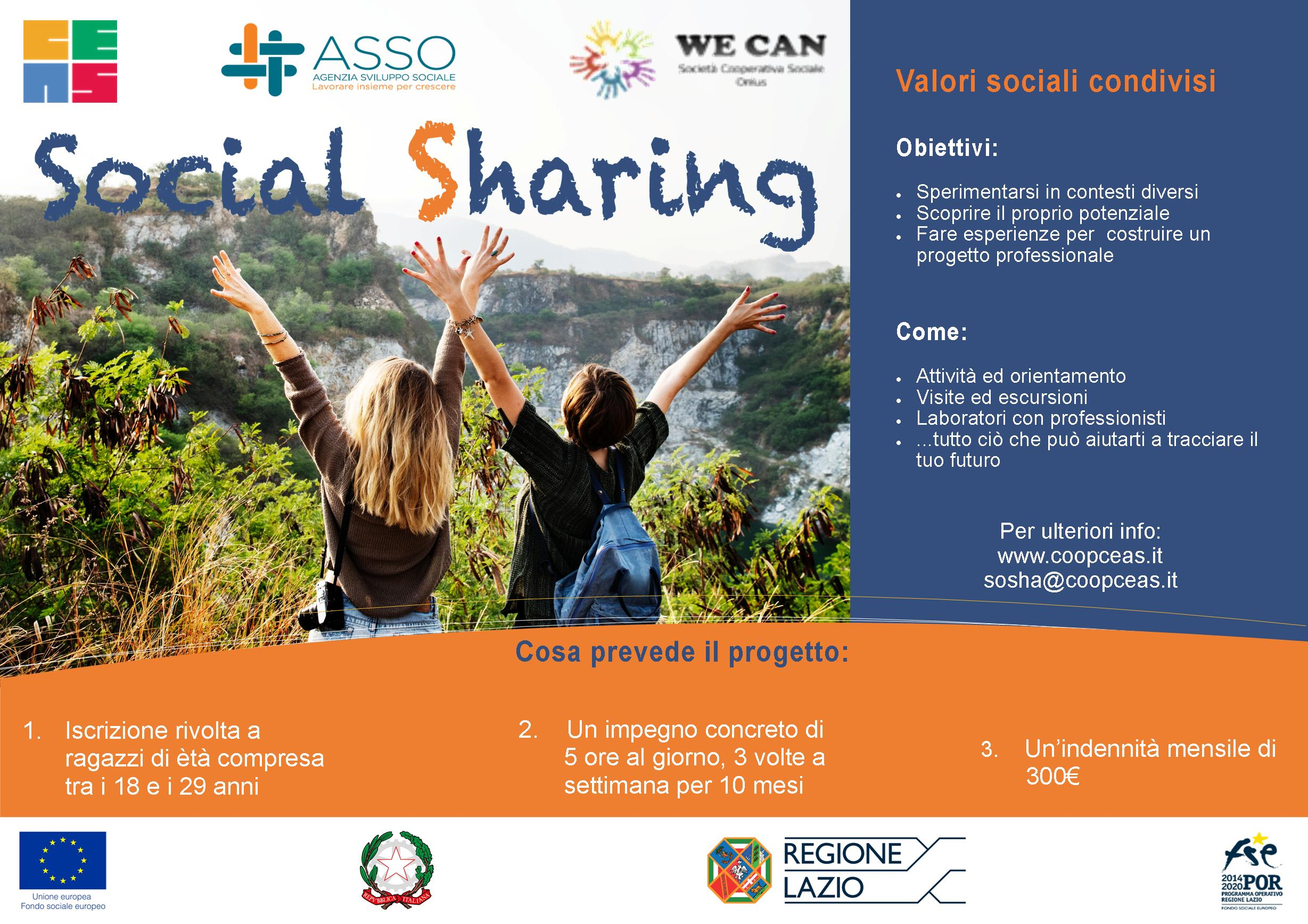 locandina social sharing a3